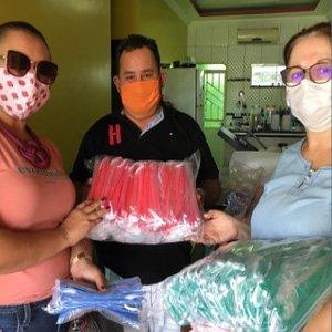Confecção e doação de máscaras caseiras